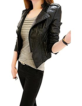 mujer chaqueta de motociclista d