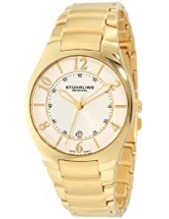 Stuhrling Original Classic Regalia Men's Quartz Watch with Silver Dial Analogue Display and Stainless Steel Gold...