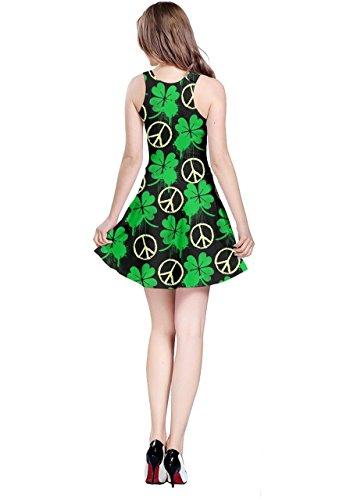 CowCow - Robe - Femme Colourful Gems Neon Green Peace
