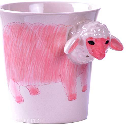 Schaf Schäfchen Tier Tasse Becher 3D mit Schaf Schäfchen Keramik als Geschenk mit Schaf für Tierfreunde Tierliebhaber -