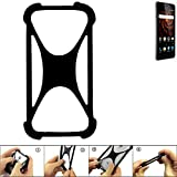 K-S-Trade Handyhülle Allview X3 Soul Lite Silikon Schutz Hülle Cover Case Bumper Silikoncase TPU Softcase Schutzhülle Smartphone Stoßschutz, schwarz (1x)