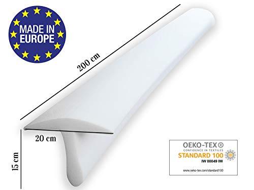 ENTSPANNO Matratzenbrücke in Weiß für Doppel-Bett | 200 x 20 x 15 cm | Liebesbrücke Ritzenfüller für eine große, breite Liegefläche -