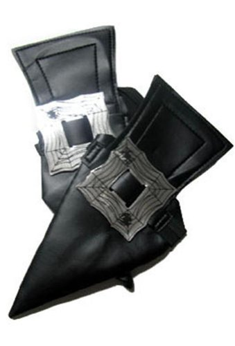Espa Schuhüberzieher Hexenschuhe für Erwachsene Kostümaccessoire schwarz-Silber -