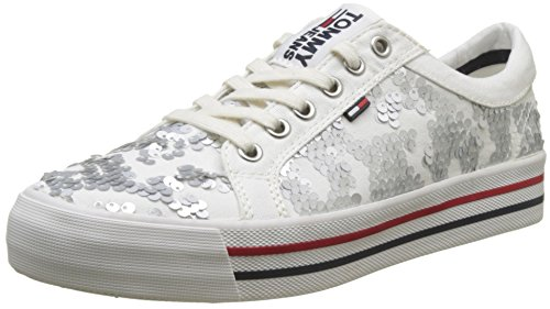 Tommy Jeans TJ Fashion Sequin Sneaker, Sneakers Basses Femme
