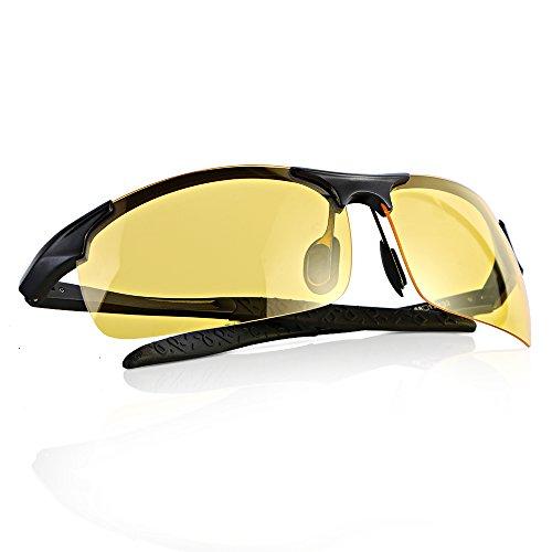 Maigel Gafas de visión nocturna conducción de Gafas de sol Polarizadas de la Visión Nocturna para los Antideslumbrante de conducción de los vidrios noche
