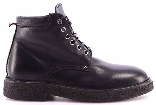 MOMA Damen Schuhe Stiefeletten Ankle Boots 72503-TA Hannover Nero Schwarz Italy