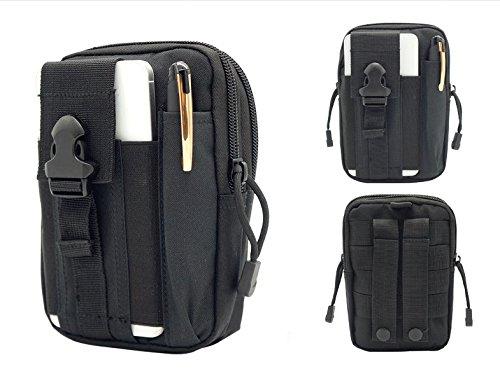 Herren Hüfttasche Hüfttasche Gürtelclip Handy Tasche für iPhone XS Max/iPhone XR/Samsung Galaxy Note 9/S10/S10 Plus/Google Pixel 3 XL/OnePlus 7, schwarz