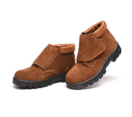 nner Arbeitsversicherung Schuhe zu bestechen Schock Absorption Puncture resistente dauerhafte Stahl-Toe-Schuhe,A,42EU ()