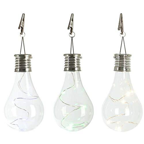 MMOOVV 1X Transparenter kupferner Solarlampenleuchter -