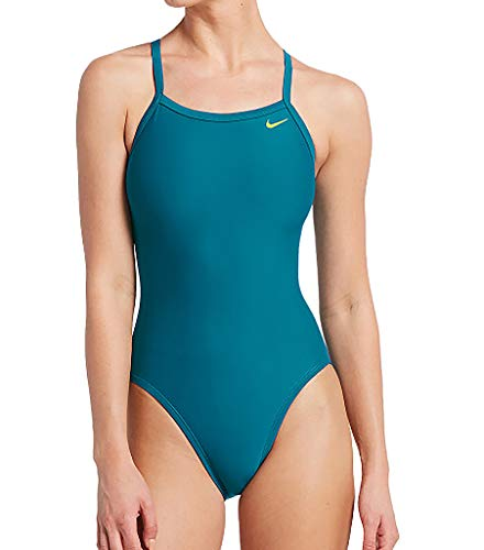 Nike Swim Damen Sportbadeanzug Nike Solid blau S/36 - Damen Badeanzug Nike