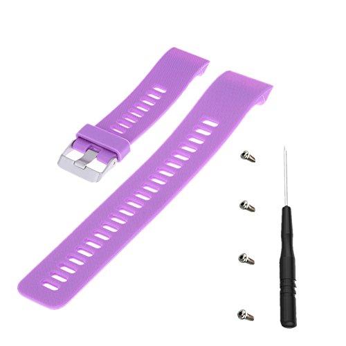 Meiruo Ersatz-Armband für Garmin Forerunner 35, Fitness Band Armband für Garmin Forerunner 35 (Lila) -