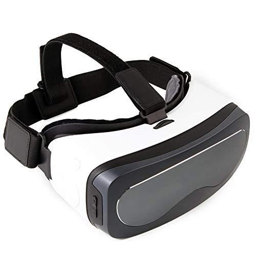 YDZSBYJ Tragbar VR-Brille, 3D Am Kopf Montiert Virtuelle Realität, WiFi/Bluetooth Verbindung USB-Schnittstelle (Farbe : Weiß)