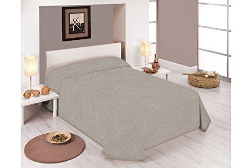 Sabanalia - Colcha estampada Stone (Disponible en varios tamaños y colores) - Cama 90 - 180 x 280, Beige