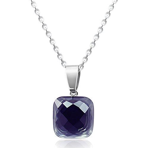nobel-schmuck Kette Silber mit Kristall von Swarovski® Schwarz