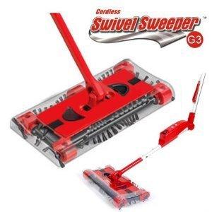 Vetrineinrete® scopa elettrica rotante a batteria con quattro spazzole rotanti aspirapolvere ricaricabile cordless swivel sweeper b27