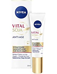 NIVEA Anti-Falten Augenpflege für reife Haut, 15 ml Tube, Vital Soja Anti-Age