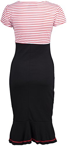 Küstenluder LARISSA Sailor STRIPED Streifen AHOY Pin Up DRESS Kleid Rockabilly -