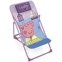 ARDITEX – Sillón de jardín/Playa Ajustable y Plegable para niños bajo Licencia Peppa Pig