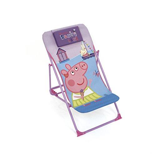 Arditex–Sillón de jardín/Playa Ajustable y Plegable para niños bajo Licencia Peppa Pig en Metal, tamaño: 43x 66x 61cm, Tela, 61x 43x 66cm