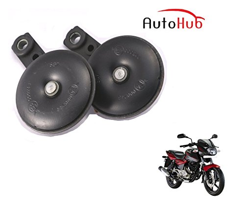 Auto Hub Uno Minda Bike Horn Set For Bajaj Pulsar 180 DTS-i - Set of Two (Black)  available at amazon for Rs.499