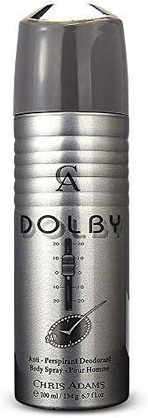 Chris Adams Perfumes Dolby Pour Homme Deodorant Body Spray For Men, 200 ml