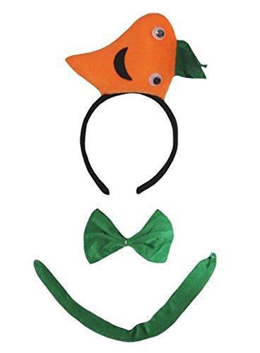 Karotten Für Erwachsene Kostüm - Petitebelle 3D-Stirnband Bowtie Schwanz Kostüm für Erwachsene Einheitsgröße 3d Karotte
