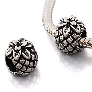 Andante-Stones Silber Bead Ananas Element Kugel für European Beads + Organzasäckchen