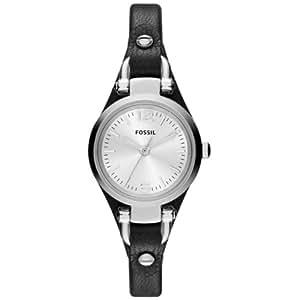 Fossil - ES3263 - Montre Femme - Quartz Analogique - Aiguilles lumineuses - Bracelet Cuir Noir