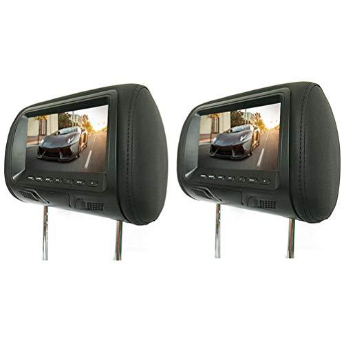 7 Zoll Hinten Montierte Auto Kopfstütze Universal Hd Digital Bildschirm Bild LCD Display Paar Kopfstütze TV Display 2 stücke,Black Screen-digital-tv