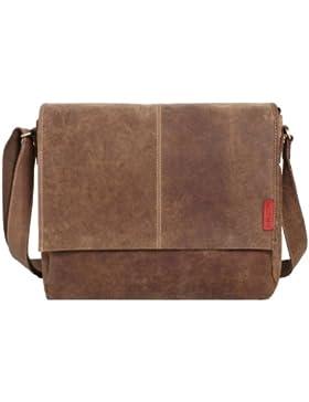 Messenger-Bag / Büchertasche aus geöltem Buffalo Leder 38x29x11 cm von Outback Model: Kalgoorlie