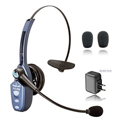 VXI BlueParrott B250-XTS Bluetooth Headset Bundle inkl. extra Kissen und Ladegerät für Android OS Phone/Tablet und Apple iOS iPhone/iPad B250xt Bluetooth