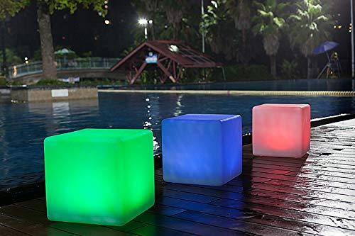 """LED-Solarleuchte Solar-Gartenleuchte""""Maki"""" Solar-Tisch-Leuchte Solar-Balkon-Terrasse-Boden-Teich-Dekorations-Weihnachts-Leuchte (30cmx30cmx30cm) (Würfel)"""