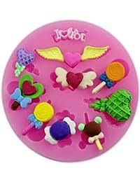 Auket Coeur d'aile Pop Gâteau fondant savon sucre Artisanat décoration de gâteau de moule de silicone # 133