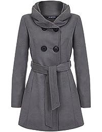 Anastasia Grey Women's Hooded Belted Winter Coat