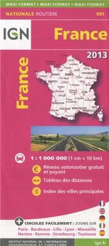 Frankrijk 2013 ign par Institut Geographique National