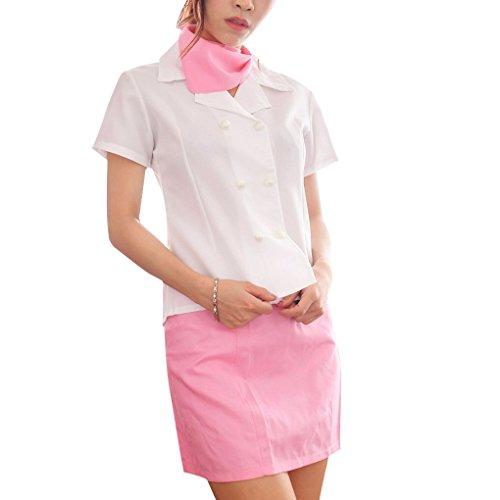 Frauen Stewardess Cosplay Wäsche Stage Performance-Mädchen-Kostüm Uniform - Air Hostess Uniform Kostüm