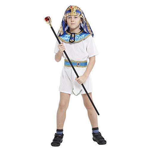 tischen Prinz Kostüm Kinder Pharao Halloween Cosplay Kostüm (116/122 (5-6 Jahre)) ()