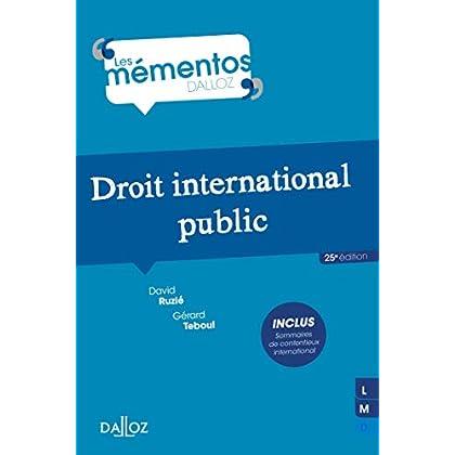 Droit international public - 25e éd.