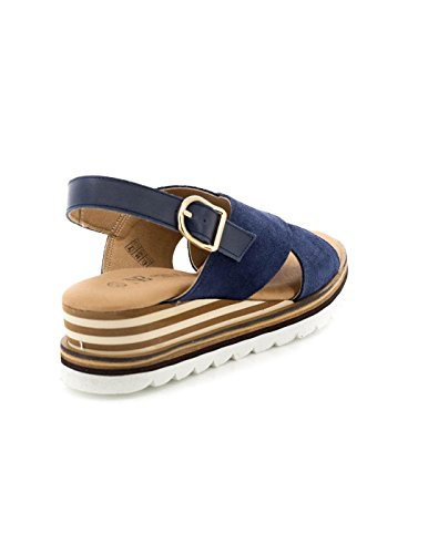 Sandalo Natalia Blanco pelle blu 76031QS09 Blue