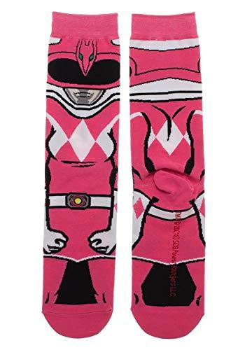 Bioworld Merchandising / Independent Sales Adult Power Rangers Pink Ranger 360 Character Crew Sock Standard (Frauen Power Ranger Shirt)