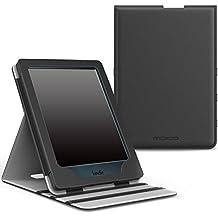 MoKo Funda para All-New Kindle 8th Generación - Superior Voltear Vertical Funda con Auto Sueño/Estela - Negro (No es Compatible con el kinlde Paperwhite)