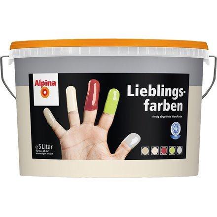 Alpina Lieblingsfarben Wandfarbe Farbton Sand 5 liter für ca.45 m2 bei einmaligem Anstrich