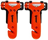 Ipow 2-Stück auto Hammer Fenster Hammer Gurtschneider Sicherheit Hammer fürs Auto Kfz (Klein)