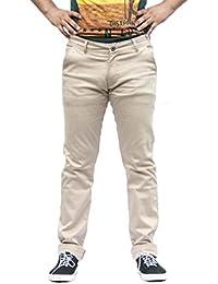 Men's Beige Slim Fit Trouser