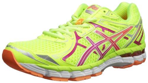 Asics - Frauen Gt-2000 2 Laufschuhe, EUR: 35.5, Fluorescent Yellow/Hot Pink/Orange (Asics 2000 Laufschuhe Frauen)