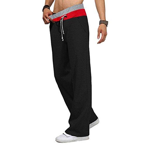 Minetom Casual pantaloni Jogging pantaloni tuta fondo pantaloni allenamento Running Release Pantaloni da danza da Uomo Nero