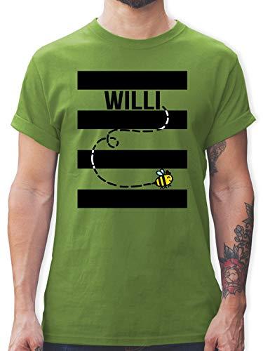 Karneval & Fasching - Bienen Kostüm Willi - S - Hellgrün - L190 - Herren T-Shirt und Männer Tshirt (Lustiger Film Paare Kostüm Ideen)