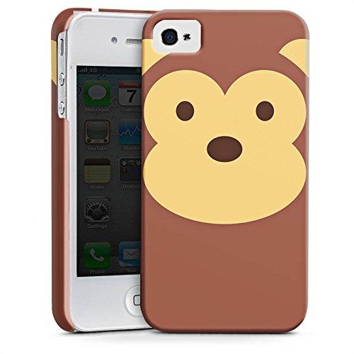 Apple iPhone X Silikon Hülle Case Schutzhülle Affe Monkey Comic Style Premium Case glänzend