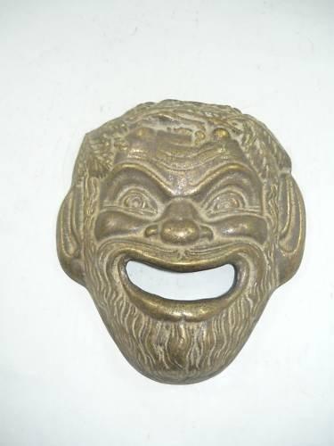 Gesicht für Brunnen Messing Maske Aristoteles Möbel Haus Garten