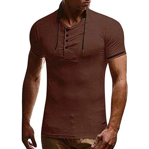 id T-Shirt Herren Grau Schwarz Kaffeeweiß T Shirt Muscle Top (Top Superheld Kostüme)